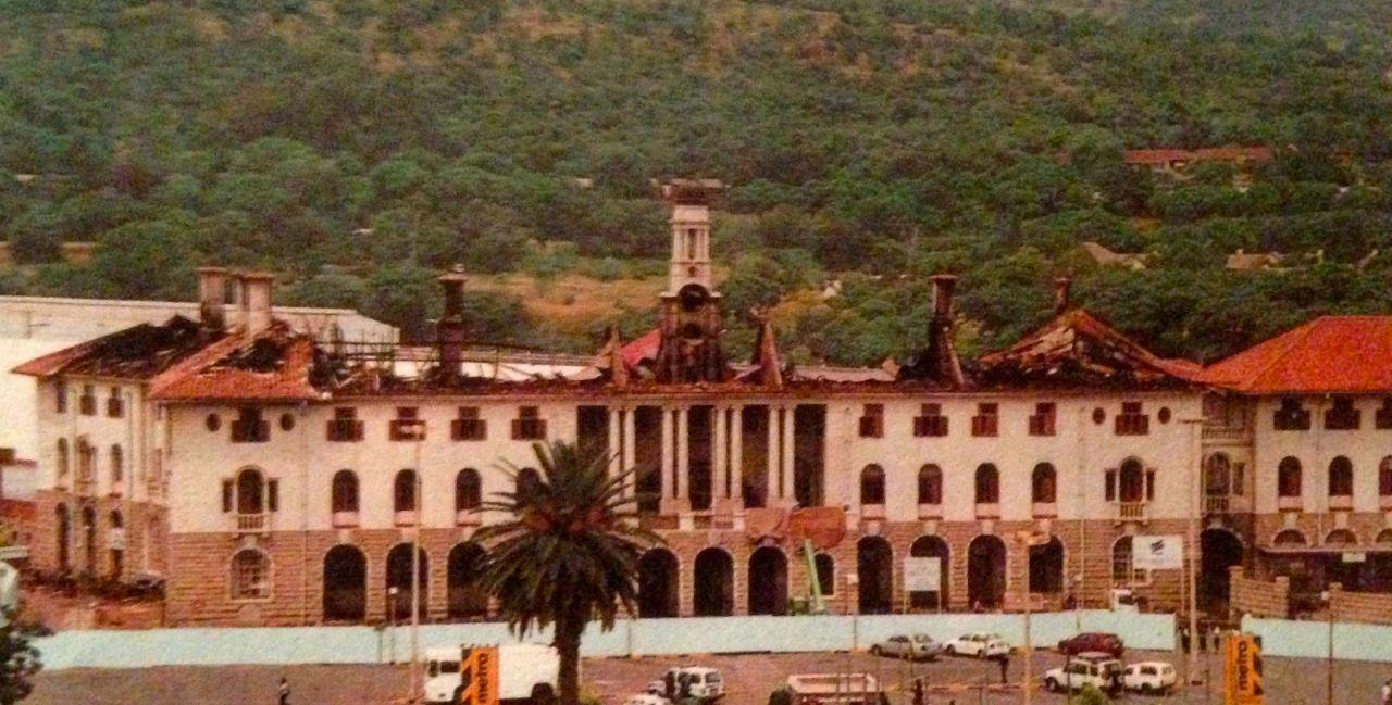 Image result for SOUTH AFRICA PRETORIA RAILWAY STATION TORCHED