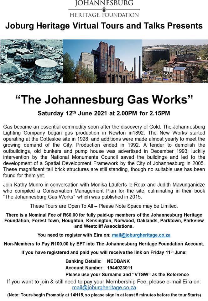 Johannesburgs Gas Works - Virtual Talk 2021