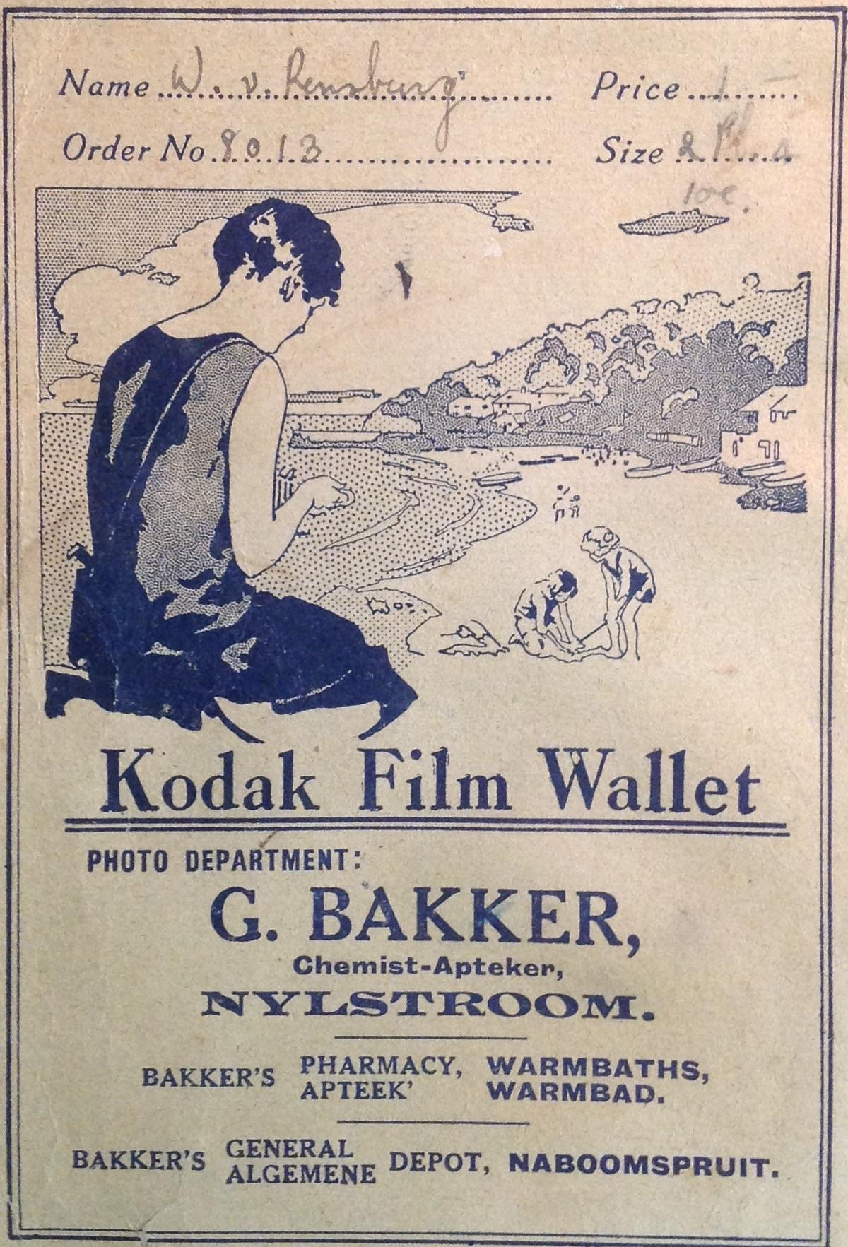 The Kodak Girl - South African Film Wallets (1910s to 1960s) | The