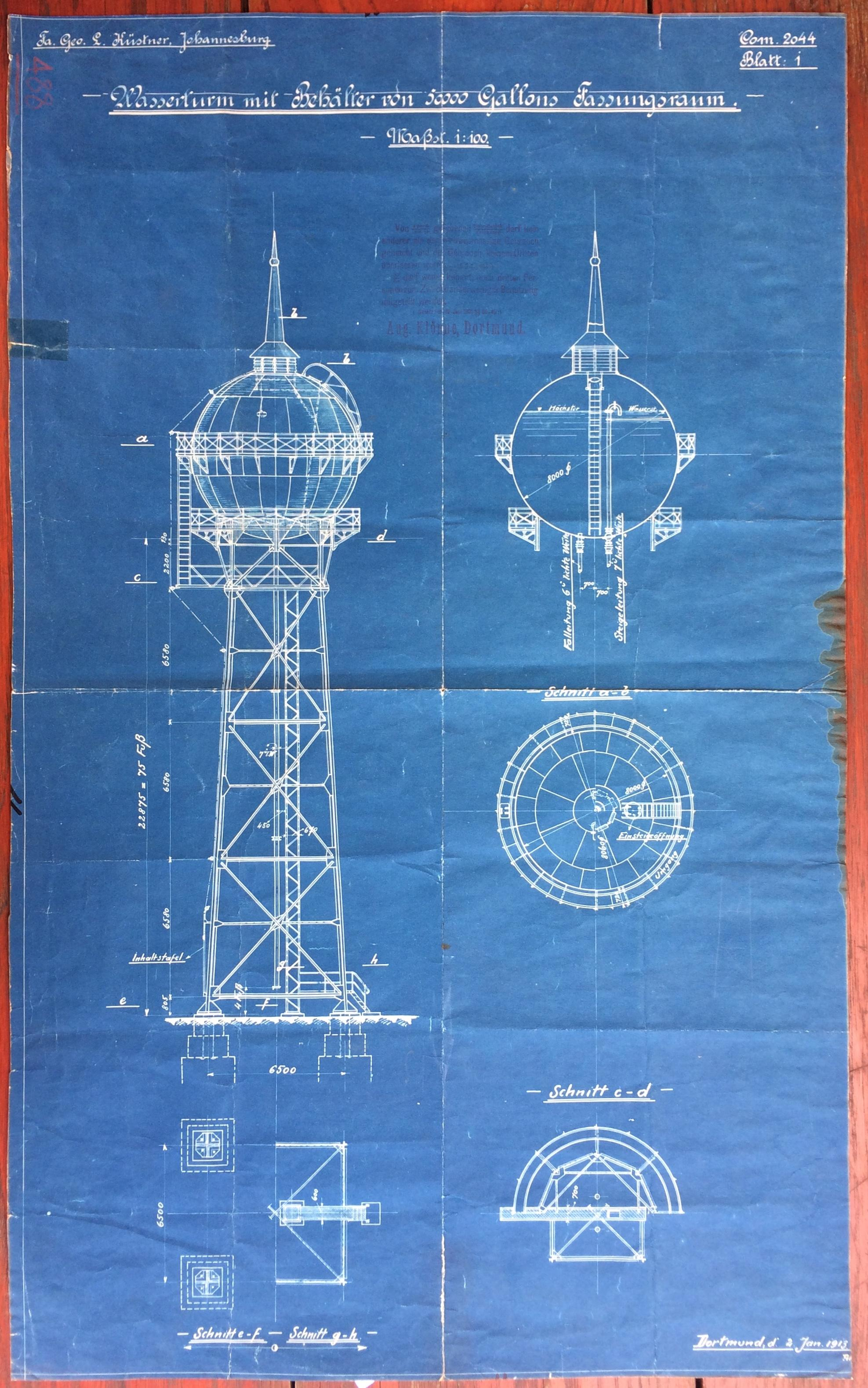 The Birth Certificate Of Yeoville Water Tower Heritage Portal Here Is An Example Electrical Blueprint