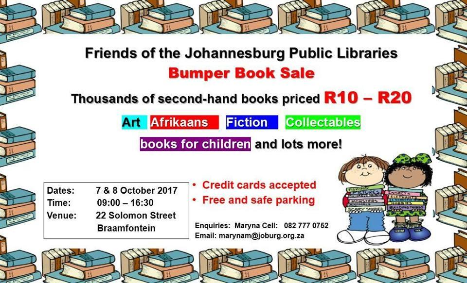 Friends Of The Johannesburg Public Libraries Bumper Book Sale 2017